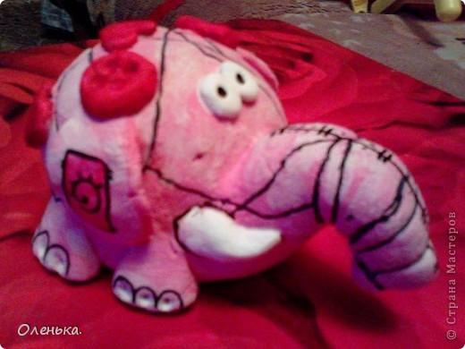 Спасибо большое Диане за ее МК, по которому делала этих слоников!!! фото 4