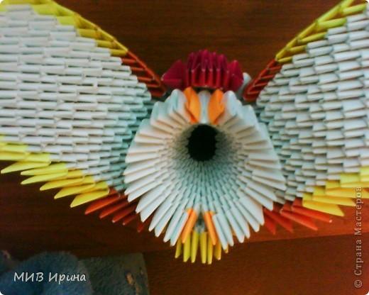 Одна из моих первых работ с бумагой...Журавлик! =) фото 7