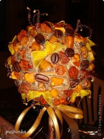 Мама, вдохновленная моим кофейным деревом, сделала себе кофейно-янтарное )))) фото 3