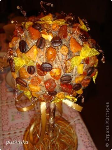 Мама, вдохновленная моим кофейным деревом, сделала себе кофейно-янтарное )))) фото 2