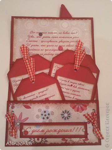 Я тоже решила принять участие в игре Лены-Лены http://stranamasterov.ru/node/131341?c=favorite., как раз собиралась делать открытку сестере на день рождение... фото 3