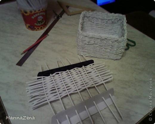 Первые работы в плетении из газет фото 2