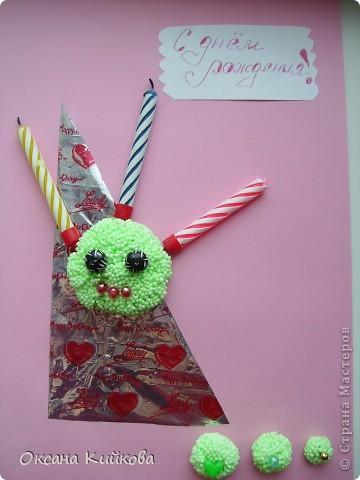 Открытка для ребёнка 3-х ЛЕТ. Многофункциональная открытка идет как приложение к главному подарку, свечи в торт, пластилин как игрушка ( ЗВЕРЯТ МОЖНО СДЕЛАТЬ, ИСПОЛЬЗУЯ БУСИНКИ ГЛАЗКИ И Т.Д.)