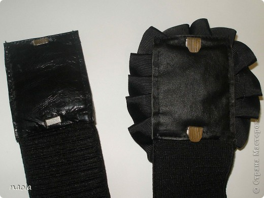 вот такие пояса у меня получились. Резинки купила, а кожаные части сделал из остатков от старых сапогов.  фото 4