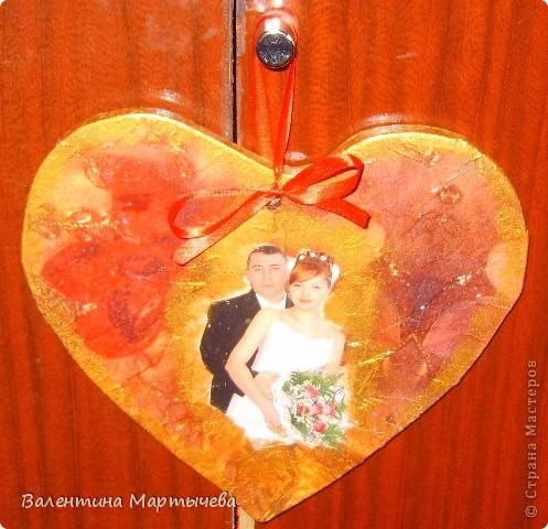 Дочка попросила сделать деревянное сердце на их юбилей, пришлось осваивать эл.лобзик + декупаж салфетка и фото фото 1