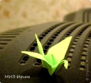 Одна из моих первых работ с бумагой...Журавлик! =) фото 1