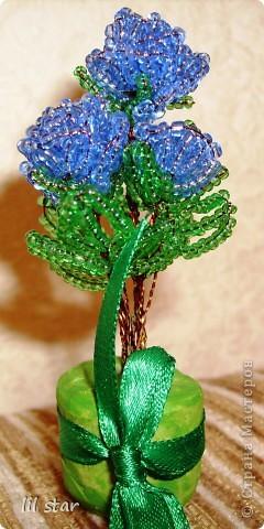 Букетик цветов делала полгода назад, схему брала в журнале Чудесные мгновения №11/2006 год. фото 11