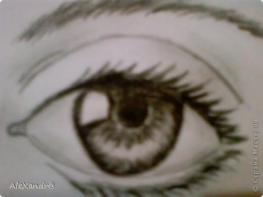 нашла видео в интернете как нарисовать глаз.Захотелось попробовать....и вот резутьтат!