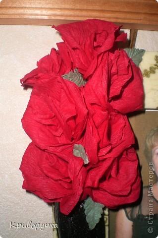 Основа рамочки и сапог - соленое тесто, цветы -гофробумага, по всей рамки -декупаж (первый раз делала и поэтому морщит не много и желтит, клей был не очень) фото 5