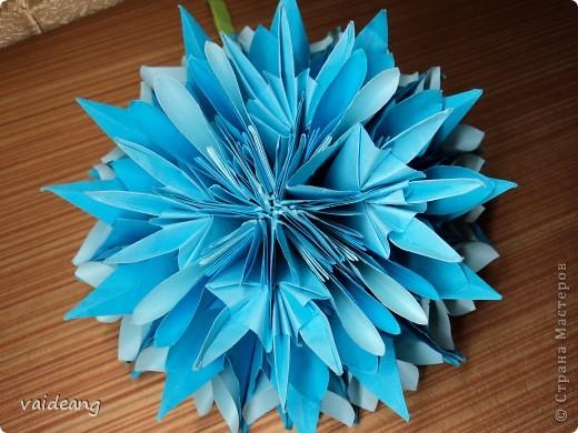 Цветок фантазия синий фото 2
