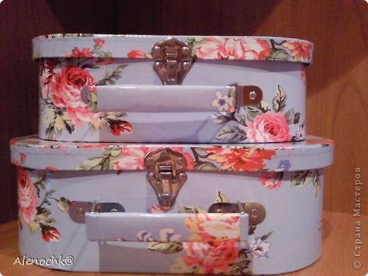 Купила по случаю себе коробочки в виде чемоданчиков в наборе 3 штуки. фото 2