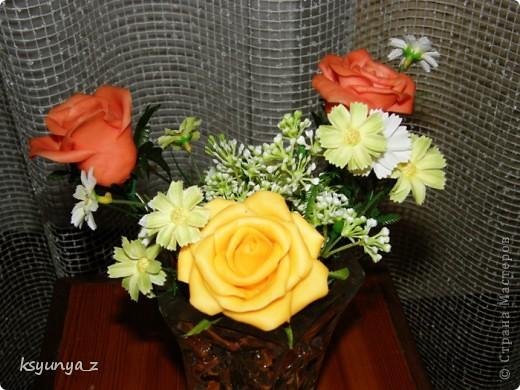 Добрый вечер, МАСТЕРИЦЫ! У меня сегодня прекрасное настроение и настоящий праздник. Первый раз за 4-е месяца мне удалось сделать розы без единой трещинки. Я просто на седьмом небе от счастья! Спасибо всем вам за ваши советы и участие :))))  фото 1