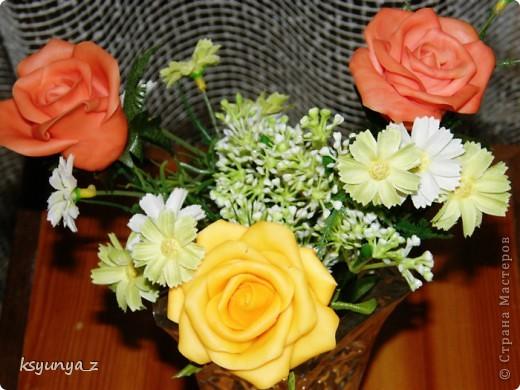 Добрый вечер, МАСТЕРИЦЫ! У меня сегодня прекрасное настроение и настоящий праздник. Первый раз за 4-е месяца мне удалось сделать розы без единой трещинки. Я просто на седьмом небе от счастья! Спасибо всем вам за ваши советы и участие :))))  фото 2