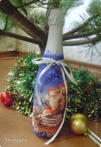 Это моя первая попытка декора бутылки. фото 3