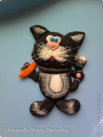 Моя первая работа!!!Повторюшка Марины Архиповой!Этого кота я потом оформила в рамку из теста к рамке добавила сыр и мышку.Муж подорил колеге по работе на новый год.