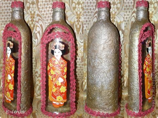 свежесозданная бутылочка.. думаю, тут еще несколько бусинок-бисеринок добавить...
