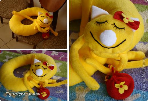 Необходима была упаковка для подарочка... вот и родилась эта котя с сумочкой для миниподарочка.
