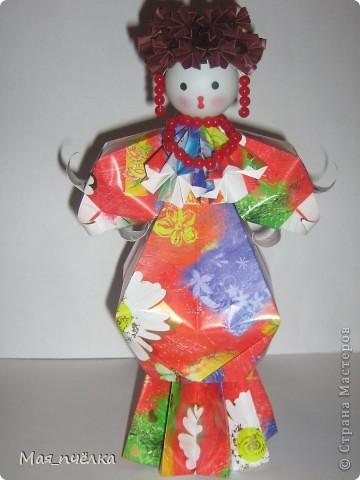 Вот таких кукол я делаю в технике модульного оригами. Это невеста. фото 4