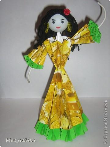 Вот таких кукол я делаю в технике модульного оригами. Это невеста. фото 2