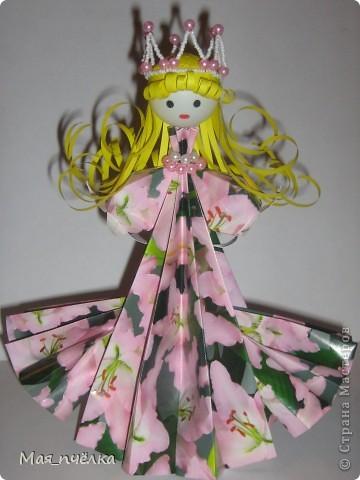 Вот таких кукол я делаю в технике модульного оригами. Это невеста. фото 5