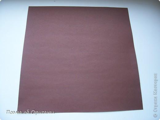 Эта ваза – модель знаменитого слепого оригамиста – Сабуро Казе. Ромашку придумал не менее известный автор – Сергей Афонькин. И цветок и ваза сложены из квадратов одной величины. Дополнительно понадобится еще один зеленый квадрат для стебля. Таким образом, для одной поделки потребуется три квадрата 20х20см. фото 2