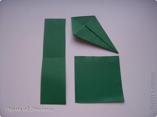 Эта ваза – модель знаменитого слепого оригамиста – Сабуро Казе. Ромашку придумал не менее известный автор – Сергей Афонькин. И цветок и ваза сложены из квадратов одной величины. Дополнительно понадобится еще один зеленый квадрат для стебля. Таким образом, для одной поделки потребуется три квадрата 20х20см. фото 36