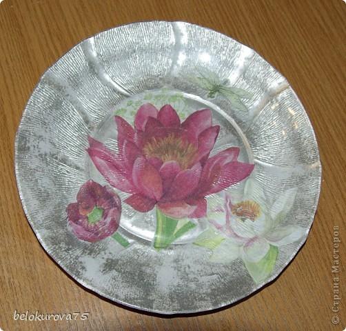 Тарелочка с цветами