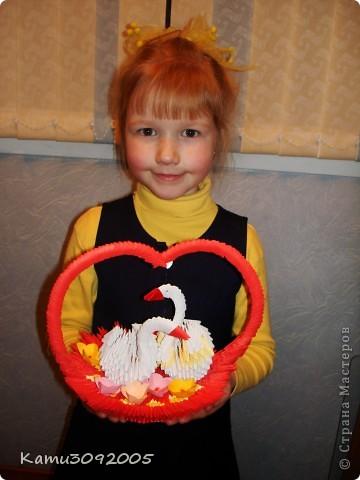 Вот такую Валентинку мы с моими детками сделали в школу на конкурс фото 3