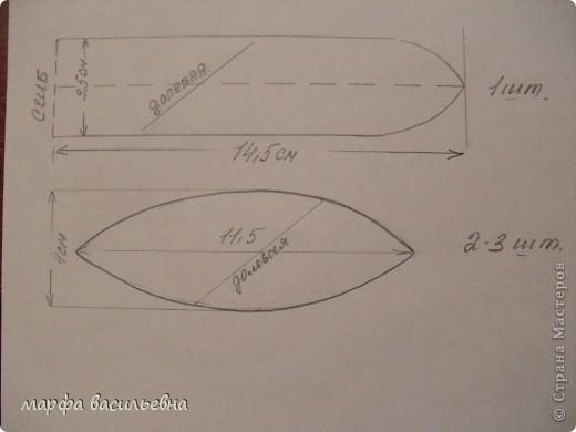По лекалам вырезаем лепестки строго под углом 45 градусов.Ширину и длину можно увеличить,тогда розочка получится побольше.По этим лекалам получается цветок 2.5-3 см(в диаметре) фото 1