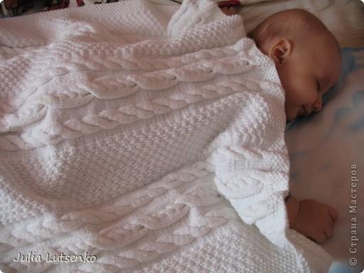 Связала летнее одеяльце сыночку, пока он еще был в животике )))