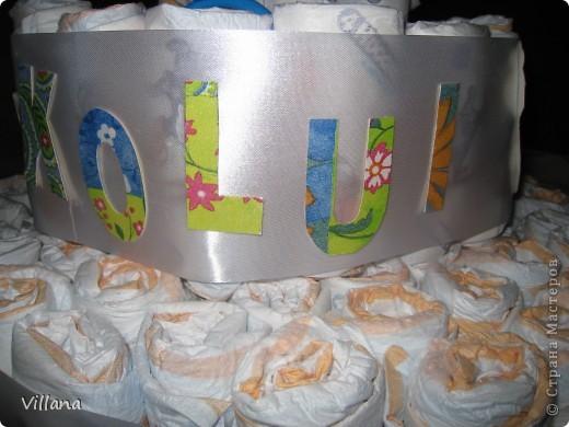 Этот тортик сделан моей подруге по случаю рождения сына)))) фото 4