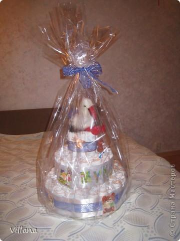 Этот тортик сделан моей подруге по случаю рождения сына)))) фото 5