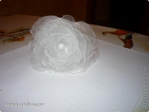 делаем цветочки из органзы фото 2