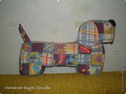 О-очень давняя моя работа, сшита лет 7-8 назад:))) Может быть, можно назвать ее работой в технике пэчворк?:) По-современному!:D