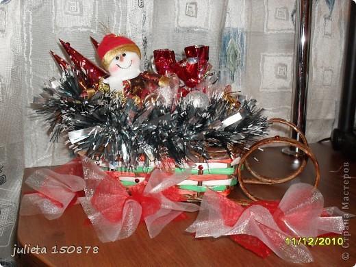 новогодние подарки с  конфетами фото 2