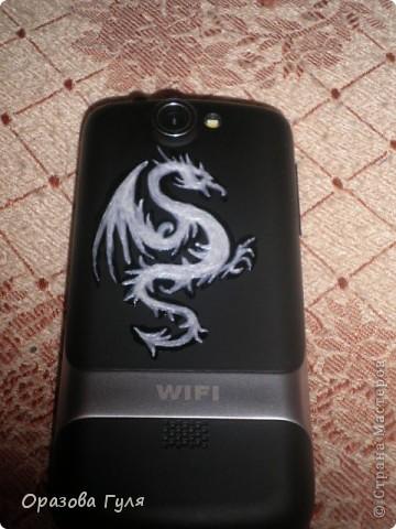 Здесь мне доверили украсить телефон подороже. Дракон для сына. фото 1