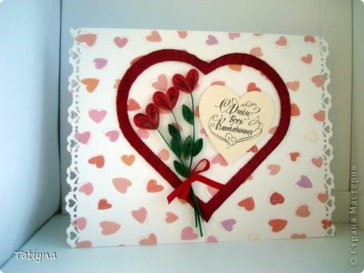 вот и у меня началась подготовка ко дню Св. Валентина, хочу показать вам мои валентинки фото 1