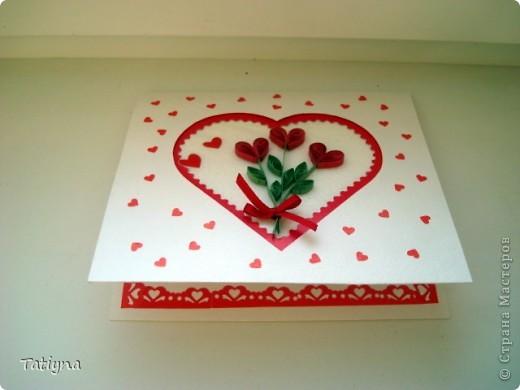 Квиллинг валентинки Бумага