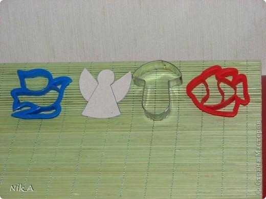 """Вот такие елочные игрушки мы сделали с 4-х летним сынишкой из """"Керамической массы для моделирования, затвердевающей на воздухе"""". Также можно сделать из соленого теста. фото 7"""