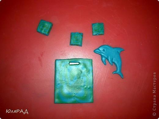 Всё сделала из пластики, дельфина раскрасила акриловыми красками. фото 3