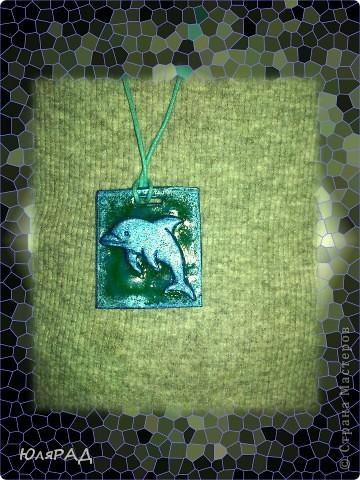 Всё сделала из пластики, дельфина раскрасила акриловыми красками. фото 4