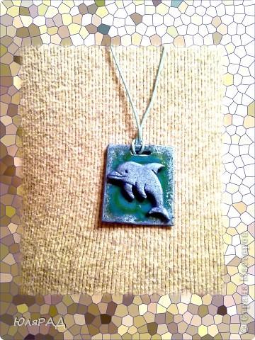 Всё сделала из пластики, дельфина раскрасила акриловыми красками. фото 1