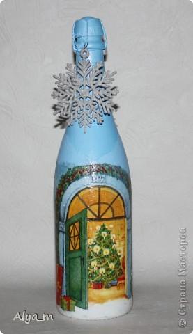 Новогодняя бутылка многоразового использования. фото 4