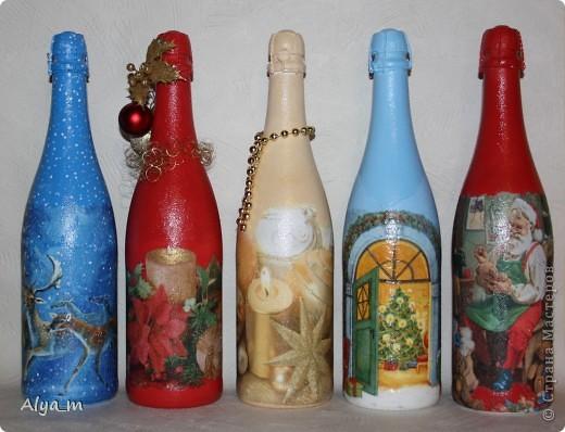 Новогодняя бутылка многоразового использования. фото 3