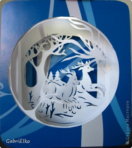 Олешки вырезашки + бумажный туннель ,спасибо автору Викторичка за идею туннеля, а автору Ирина из орла за олешек)))))