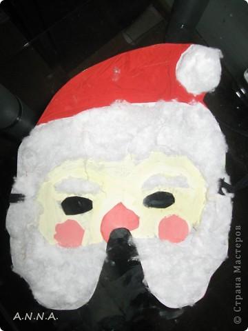 маска деда мороза