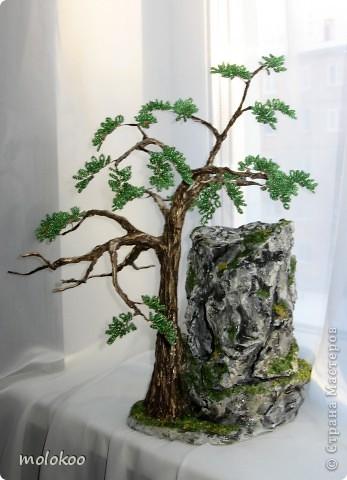 """Подарок на юбилей мужчине 45 лет. дерево-ночник. высота 40 см. верхняя часть """"скалы"""" снимается. фото 1"""