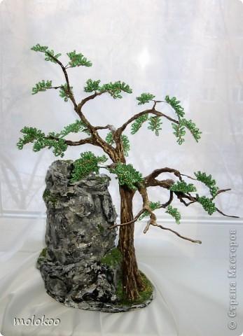 """Подарок на юбилей мужчине 45 лет. дерево-ночник. высота 40 см. верхняя часть """"скалы"""" снимается. фото 3"""