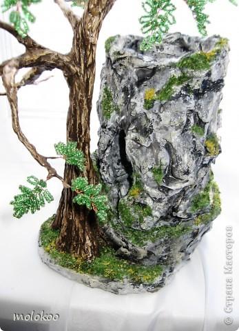 """Подарок на юбилей мужчине 45 лет. дерево-ночник. высота 40 см. верхняя часть """"скалы"""" снимается. фото 4"""