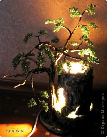 """Подарок на юбилей мужчине 45 лет. дерево-ночник. высота 40 см. верхняя часть """"скалы"""" снимается. фото 5"""